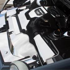 2003-2005 Thunderbird 3.9L V8 - Header Plate/Radiator Cover 5Pc - Stainless Steel, Choose Finish 503006
