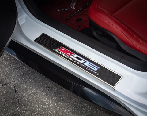 American Car Craft Light Up Door Sills Carbon Fiber Replacement Z06 051026