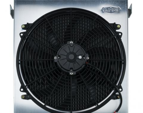 Cold Case Radiators 1932 Highboy Chevy Engine 25.5 Inch Aluminum Performance Radiator and 16 Inch Fan Kit STF902AK
