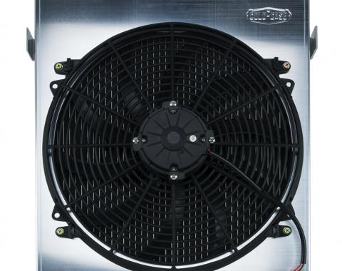 Cold Case Radiators 1932 Highboy Chevy Engine 27 Inch Aluminum Performance Radiator And 16 Inch Fan Kit STF902A-1K
