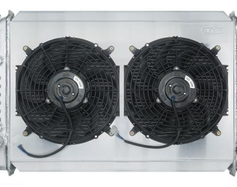 Cold Case Radiators 1971-1973 Ford Mustang V8 Aluminum Radiator 26 Inch Auto Transmission Dual 12 Inch Fans FOM578AK
