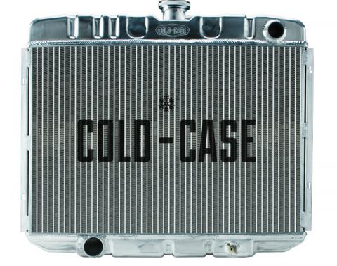 Cold Case Radiators 67-70 Mustang BB 24 Inch Aluminum Performance Radiator MT FOM588