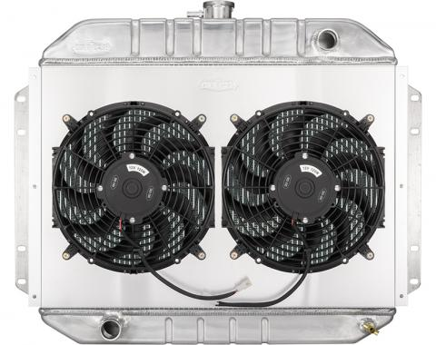 Cold Case Radiators 61-64 Ford F-100 Truck Coyote Swap Aluminum Performance Radiator and Dual 12 Inch Fan Kit FOT577-5K