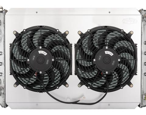 Cold Case Radiators 80-84 Ford Bronco/F-Series Truck Radiator and Dual 12 Inch Fan Kit FOT578AK