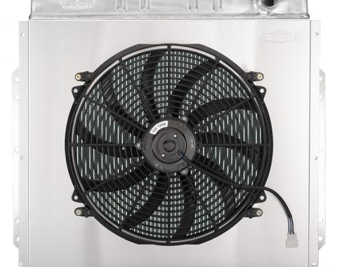 Cold Case Radiators 53-56 Ford F Series Coyote Swap Aluminum Performance Radiator And 16 inch Fan Kit FOT576-5K