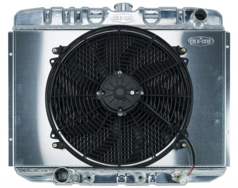 Cold Case Radiators 67-70 Mustang BB 24 Inch Aluminum Performance Radiator And 16 Fan Kit AT FOM588AK