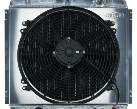 Cold Case Radiators 67-70 Mustang 20 Inch Aluminum Performance Radiator And 16 Inch Fan Kit AT FOM560AK