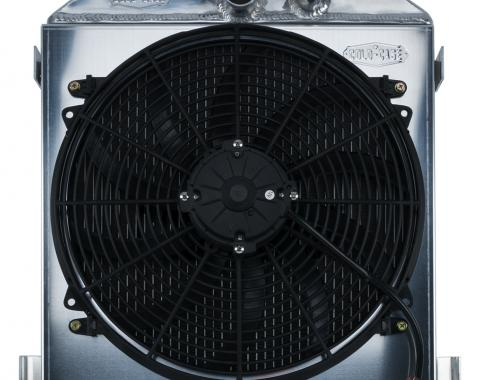 Cold Case Radiators 1932 Lowboy Ford Engine Aluminum Performance Radiator And 16 Inch Fan Kit STF903AK