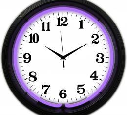 Neonetics Neon Clocks, Black Rim Purple Standard Neon Clock