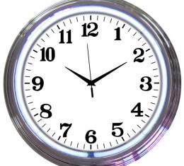 Neonetics Neon Clocks, Chrome White Standard Neon Clock