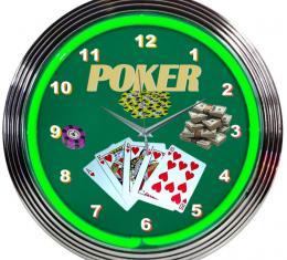 Neonetics Neon Clocks, Poker Green Neon Clock