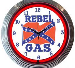 Neonetics Neon Clocks, Rebel Gas Neon Clock