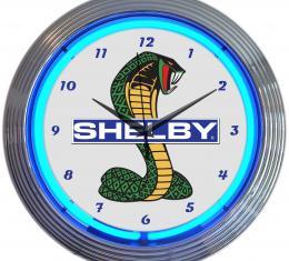 Neonetics Neon Clocks, Shelby Cobra Ford Olp Mustang Neon Clock