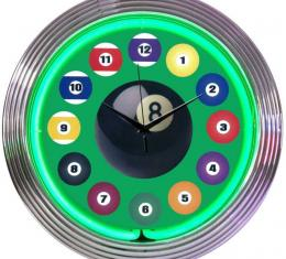 Neonetics Neon Clocks, Billiard Ball Green Neon Clock