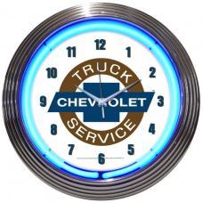 Neonetics Neon Clocks, Chevy Trucks Chevrolet Service Neon Clock
