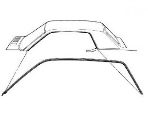 Scott Drake 1967-1968 Ford Mustang 67-68 Coupe Roof Rail Seals C7ZZ-6551222/3C