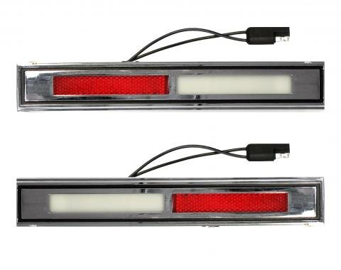 Scott Drake 1969-1970 Ford Mustang Deluxe Door Light Assembly (Pair) C9WY-13776/7-A