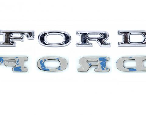 "Scott Drake 1967 Mustang Adhesive ""F-O-R-D"" Hood Letters. C7AZ-16606-SK"