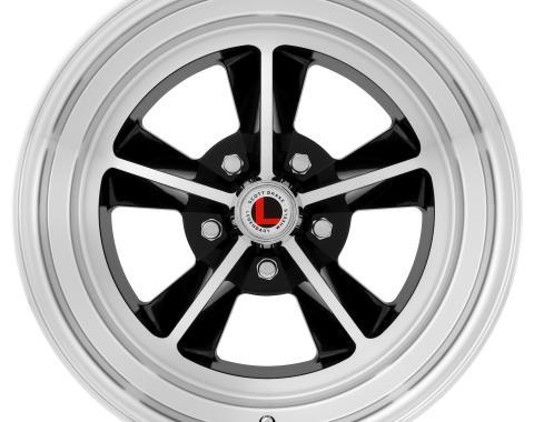 Legendary Wheels 1964-1973 Ford Mustang 17 x 7 Legendary GT9 Alloy Wheel, 5 on 4.5 BP, 4.25 BS, Gloss Black / Machined LW69-70754A