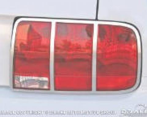 Drake Muscle Cars 2005-09 Mustang Tail Light Trim (Polished) 5R3Z-13489-C