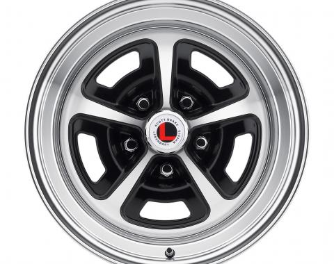 Legendary Wheels 15 x 8 Magnum Alloy Wheel, 5 on 4.5 BP, 4.75 BS, Gloss Black / Machined LW50-50854A