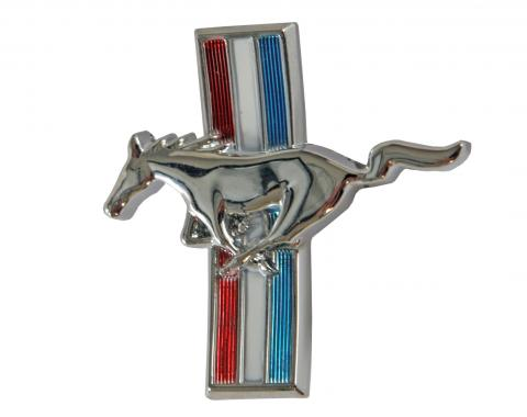 Scott Drake 1964-1966 Ford Mustang 64-65 Glove Box Emblem (Curved) C4ZB-65060A14-A