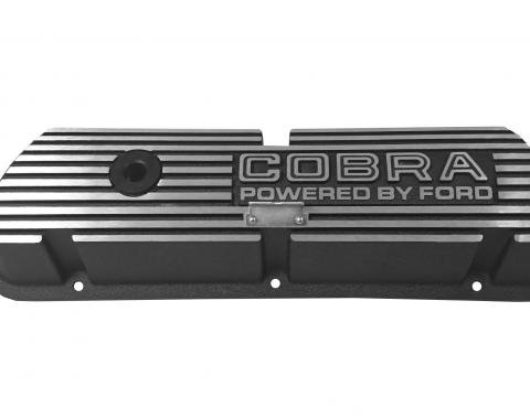 Scott Drake 1964-73 Cobra, Outline Letters Black Valve Covers 6A582-C