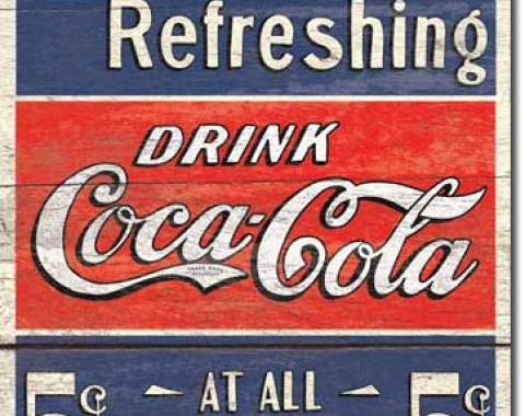 Tin Sign, COKE - Delicious 5 Cents
