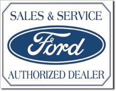 Tin Sign, Ford Logo