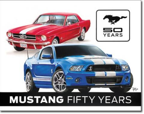 Tin Sign, Ford Mustang 50th