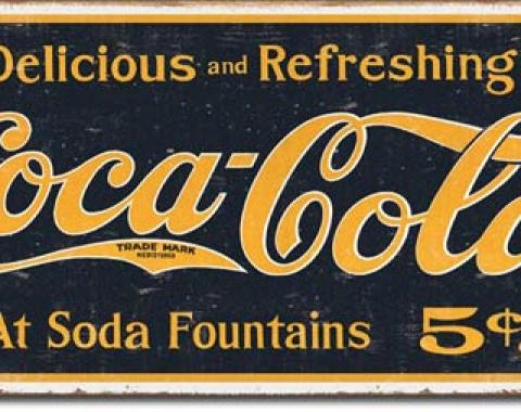 Tin Sign, COKE - 1910 Logo Weathered