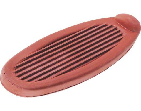 Model A Ford Brake & Clutch Pedal Pad Set - Red Rubber