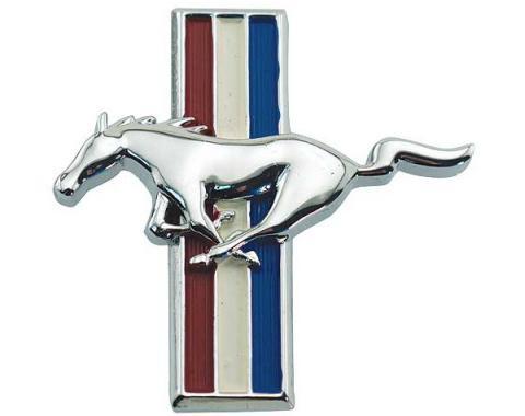 Ford Mustang Glove Box Emblem - Flat - Fits Standard Flat Glove Box Door