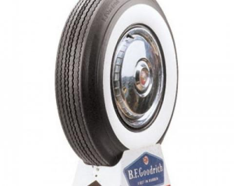 Tire, 670 X 15, 2-3/4 Whitewall, Tubeless, BF Goodrich, 1955-56