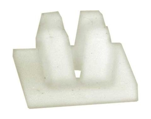 License Plate Nut - Self Threading - White Plastic