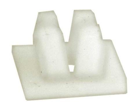 License Plate Nut - Self Threading - White Plastic