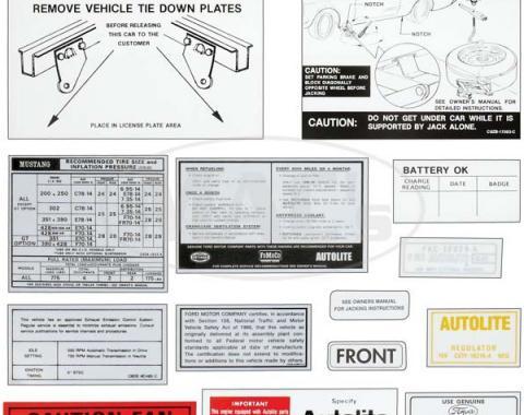 Decal Kit - 1969 Mustang