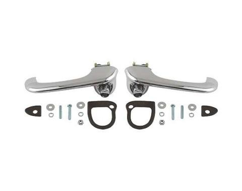 Outside Door Handle Set - Chrome - Right and Left