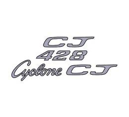 Cyclone Cobra Jet 428 Body Decal Set - Silver With Black Border - Comet & Montego