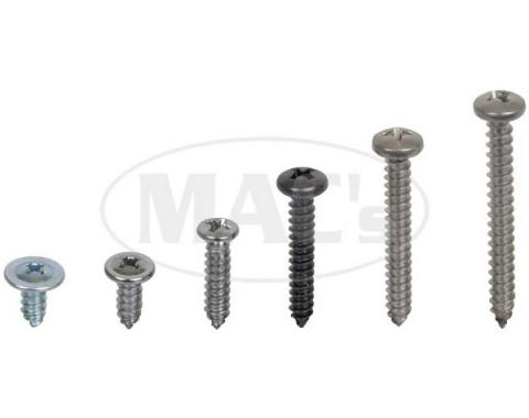 Exterior Screw Kit (58 Screws)-With Ww, Torino, 1972-1973