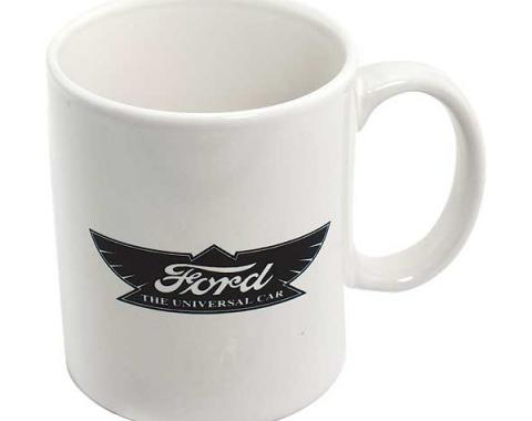 Model T Ford Mug - White With Black Imprint