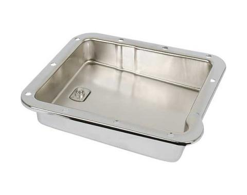 Ford Mustang Automatic Transmission Pan - C-4 Transmission - Chrome - Stock Depth