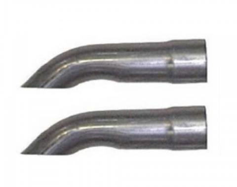 """Ford Mustang Exhaust Tips, Turned Down Tips 2.25""""  1967-73"""