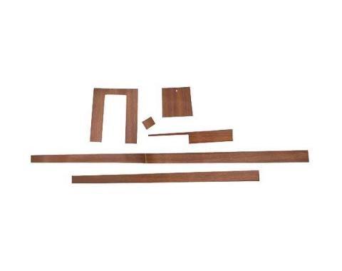 Ford Mustang Console Wood Grain Appliqu' Set - 6 Pieces