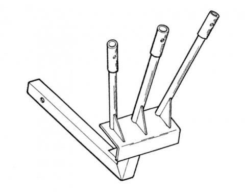 """Parade Flag Holder, Triple Flag, Extended Length, Fits into2"""" Square Hitch Opening"""