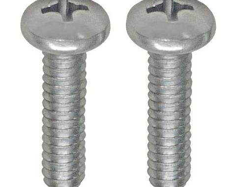 Ford Thunderbird Outside Rear View Mirror Screw Set, Left, From Mid 1964-66