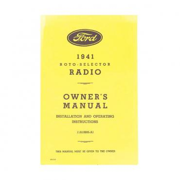 Radio Installation Handbook - Fold-Out Brochure - Ford