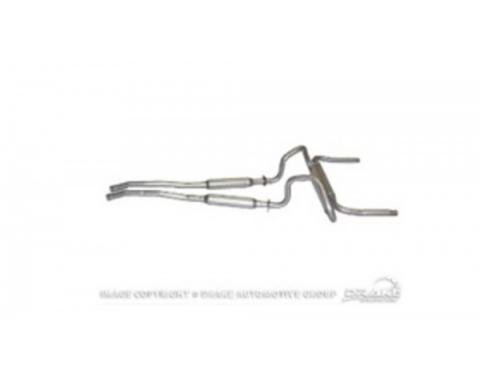 """Ford Mustang  Exhaust OEM Dual Exhaust Sys 2"""" - Transverse Single Muffle 1967-69"""