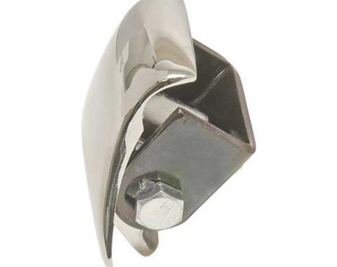 Front Fender Tie Bracket - Chrome - With Hardware - Ford Passenger