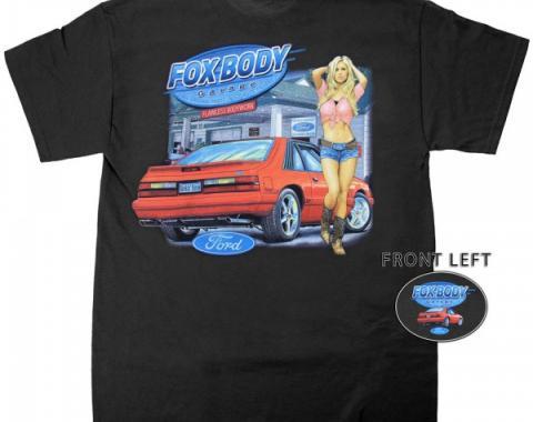 Mustang Fox Body Garage T-Shirt, Black
